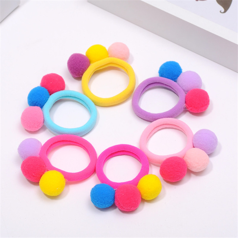 2017 New 4Pcs Cute Fashion Headband Candy Color Furry Elastic Hair Bands Children Accessories Girl Hairband Ties Wrap Ornaments 2017 new brand hair band turban elastic headband bandage fashion women elastic headband velvet cross twist headband