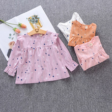 Children's clothing girls dress spring 2019 new girl girl floral ruffled cotton dress baby dress cute cotton children's clothing