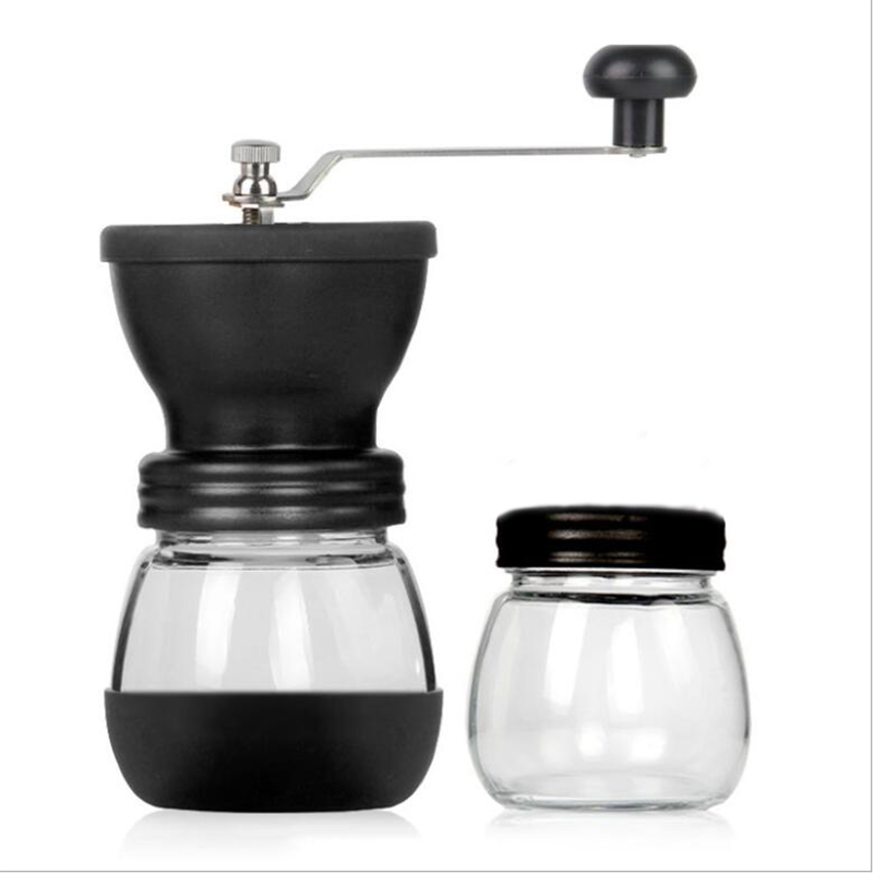 Manual Coffee Grinder Spice Grinder Maker Machine Portable Hand Coffee Beans Grinder Ceramic For Espresso With Glass Sealed Pots spices grinder machine