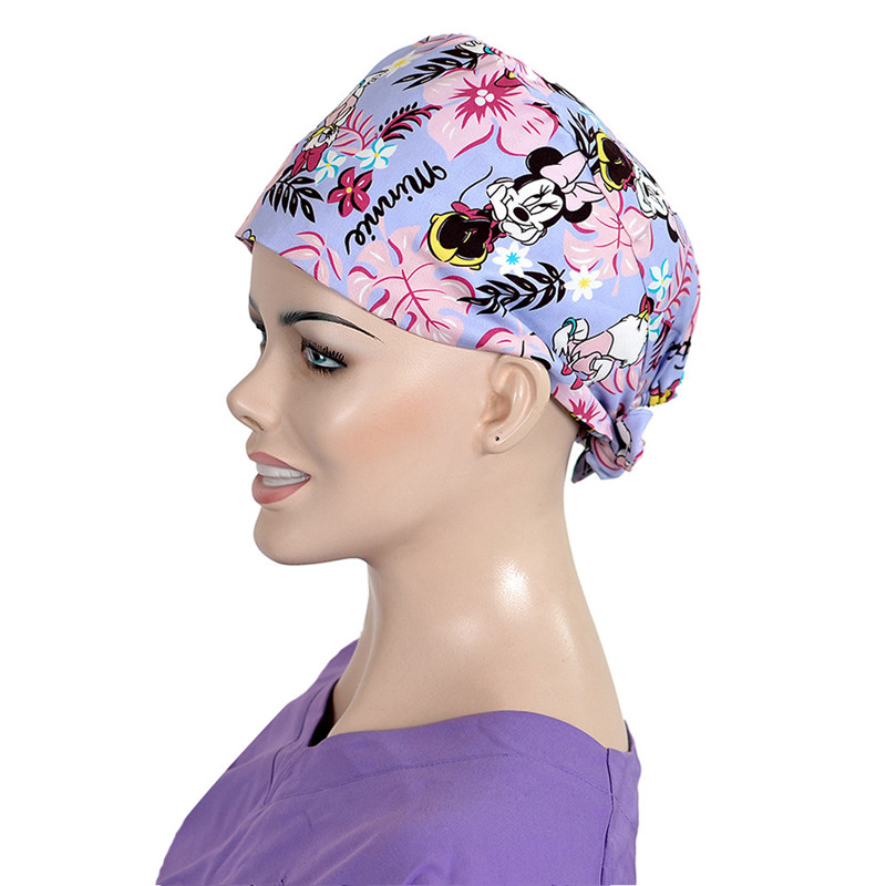 Womens Surgical Scrub Hats Custom Surgical Caps 100% Cotton Tieback with  Sweatband Dental Clinic Pet Shop Work Headwear-in Accessories from Novelty  ... 71ec983f854