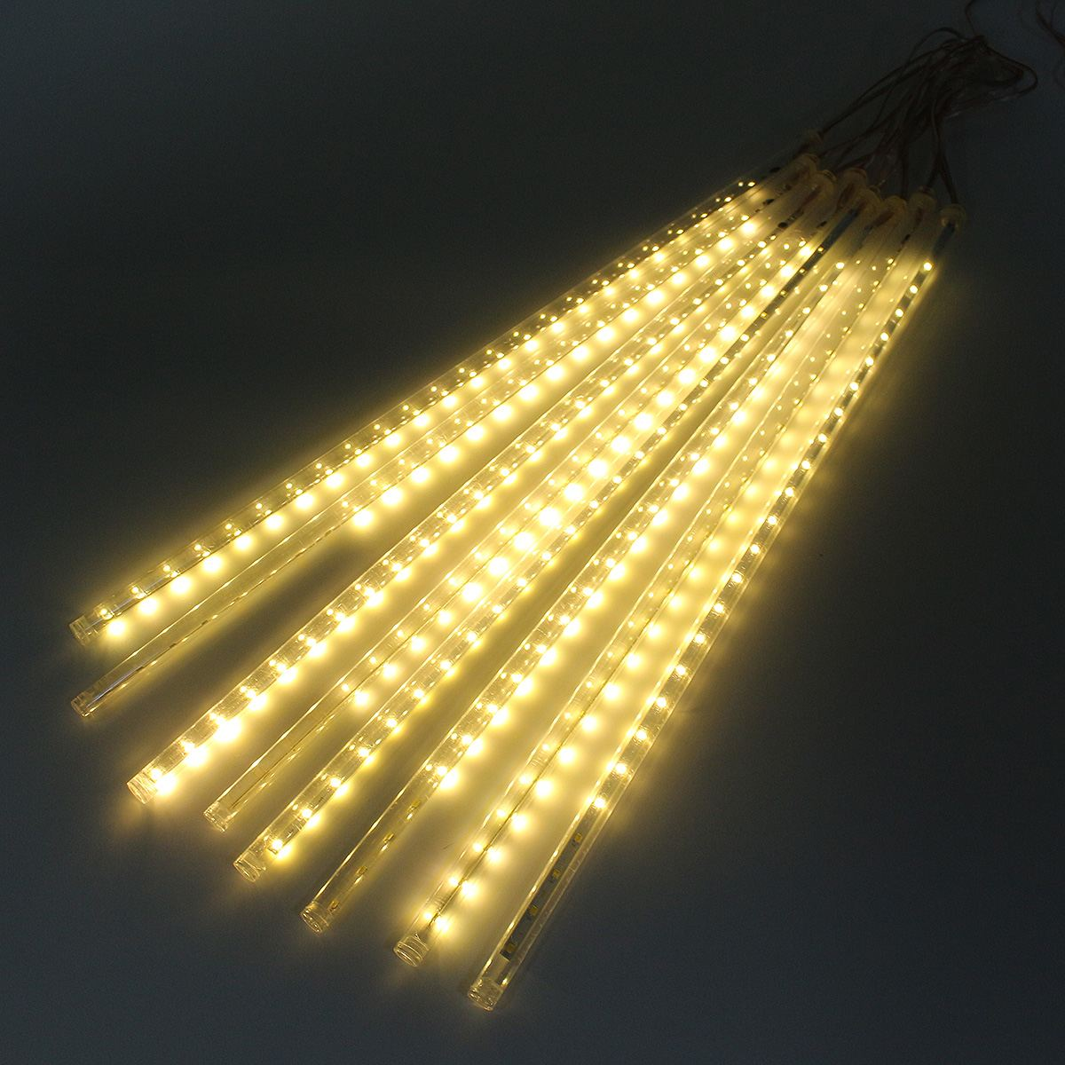 8 Tube Meteor Shower Rain Light 50CM 30 LED Strip Light Waterproof LED String Light Warm White EU Plug AC 220V