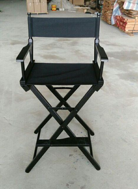 High Bar Chair Directors Chair Solid Wood Deck Chair Folding Salon Makeup  Beauty Artists Chair Beach