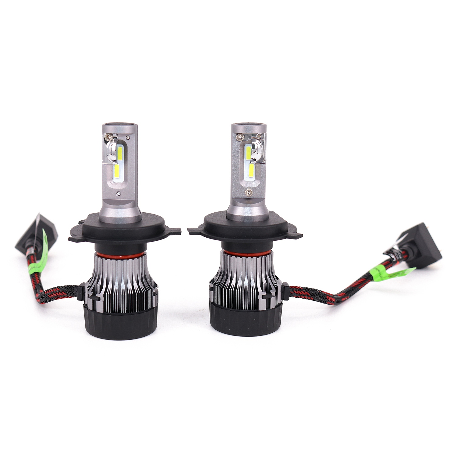 Car Headlight Bulbs(led) Automobiles & Motorcycles Objective Mini H4 Led Headlight Bulbs,60w 10000lm 4700lux 6500k Cool White Extremely Bright 30mm Heatsink Base Conversion Kit Clients First