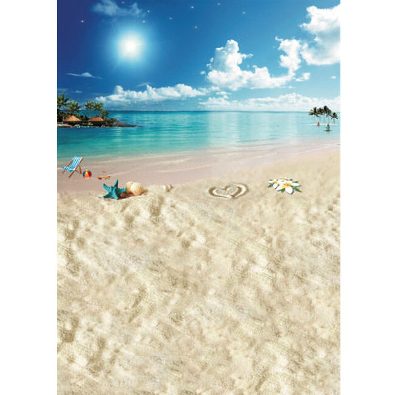 5x7ft Beach Sea Sunshine Sky Vinyl Photography Background For Studio Photo Props Photographic Backdrops 1.5mX2.1m 5 x 10ft vinyl photography background for studio photo props green screen photographic backdrops non woven 160 x 300cm
