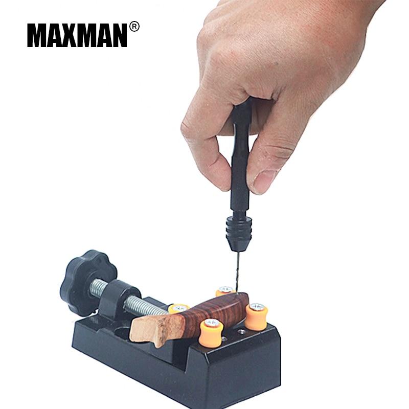 MAXMAN 0.3-3.2mm Mini Manual Aluminum Hand Drill Chuck Twsit Micro Drill Bit Tool+10PCS Twist Drill Bits Tools Hand Tool Set hilda mini hand drill with keyless chuck 10pcs hss twist drill bits rotary tools metal spiral 0 8 3mm jewel manual drilling hole