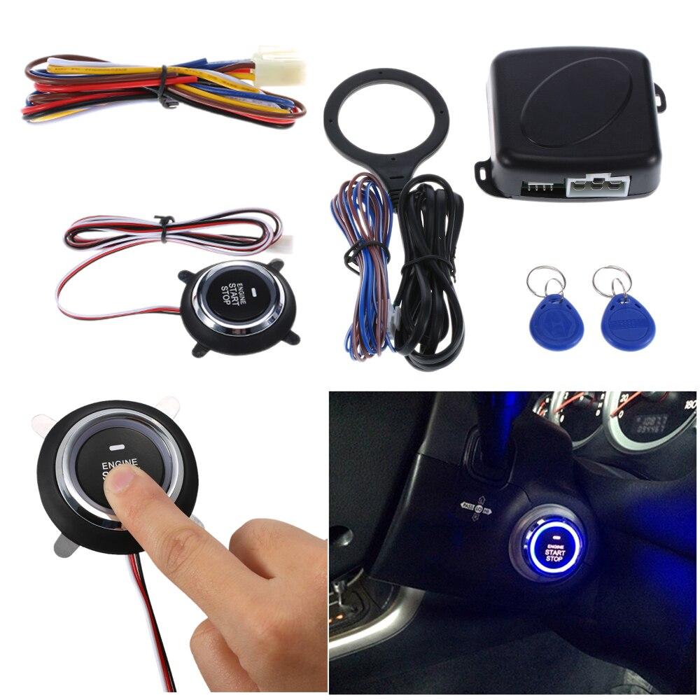 Keyless Entry Car Push Start Button Rfid Lock Engine: Auto Car Alarm Engine Starline Push Button Start Stop RFID