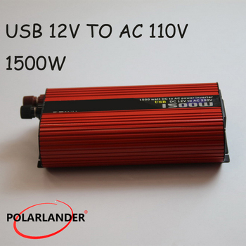 DC 12V/24V to AC 110V/220V 1500W Polarlander Power Inverter Car Vehicle USB Power Inverter Adapter Converter