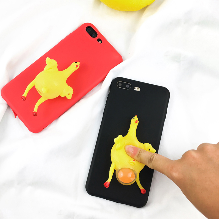 Iphone 6 squishy case - Phone Case For Iphone 6 6s Plus 3d Cute Soft Silicone Funny Squishy Chicken Lay Egg