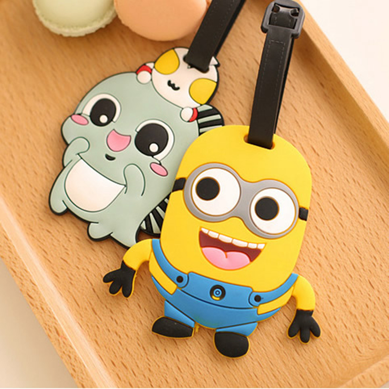 Luggage & Travel Bags Travel Accessories Women Men Cartoon Cute Smile Expression Luggage Tag Travel Accessories Cute Portable Suitcase Tag Silicon Name Labels Sale Price