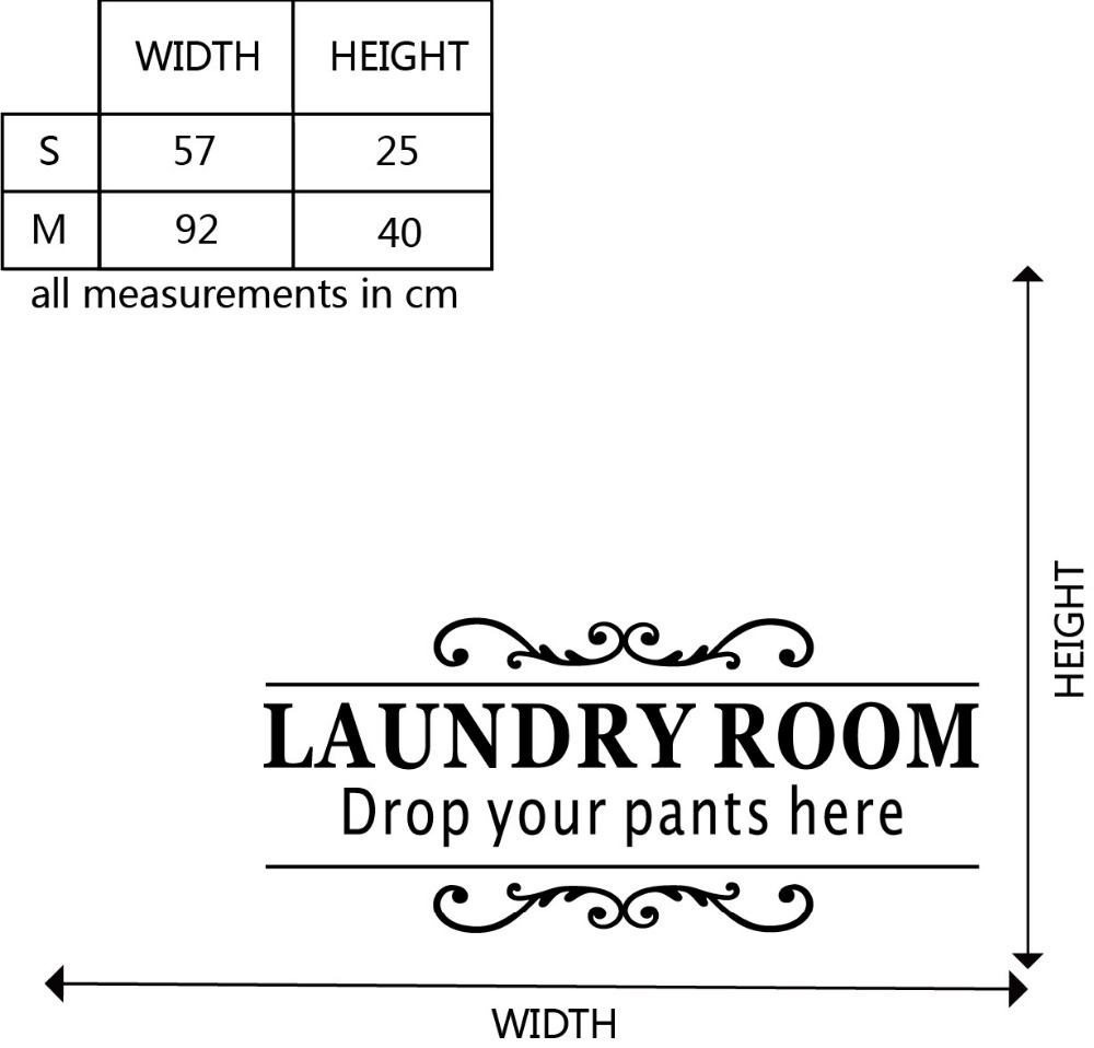 Laundry Room Quotes For Walls Fair Laundry Room Quote Wall Sticker Drop Your Pants Here Diy Family Design Decoration