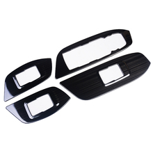 Interior Door Window Lift Switch Armrest Panel Wire Drawing Stainless Steel trims 4pcsFor Chevrolet Equinox 2017 2018 2019