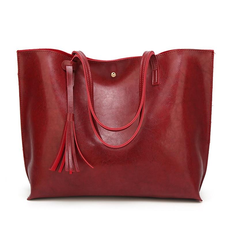 Nevenka Leather Handbag Women Casual Totes Female Shopper Ladies Shopping Bags Large Capacity Bags Vintage Bag for Women 201817