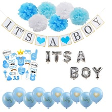 где купить Baby Shower Decoration Balloons Its A Boy/Girl Letters Foil Balloon Banner Babyshower Birthday Decor Gender Reveal Party Supply дешево
