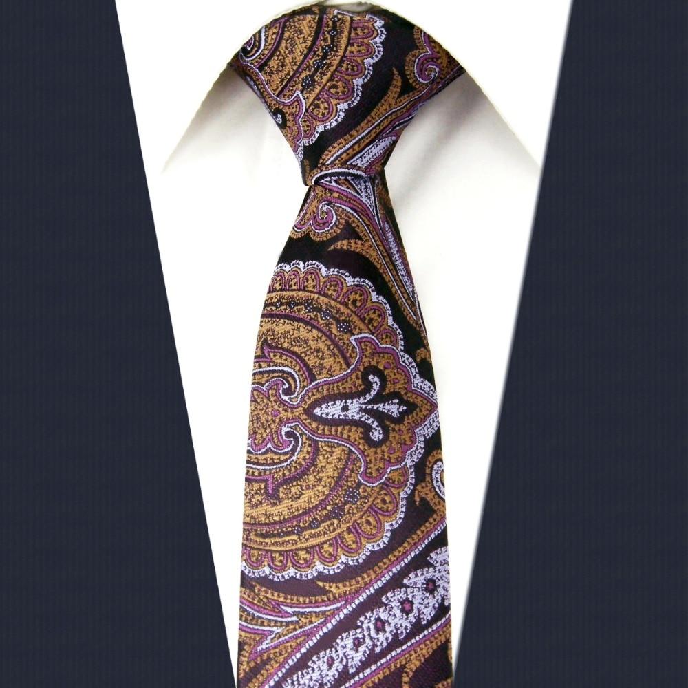 Y8 purple Floral Pattern Silk Handmade Fashion Brand New Skinny Necktie Slim Necktie Groom