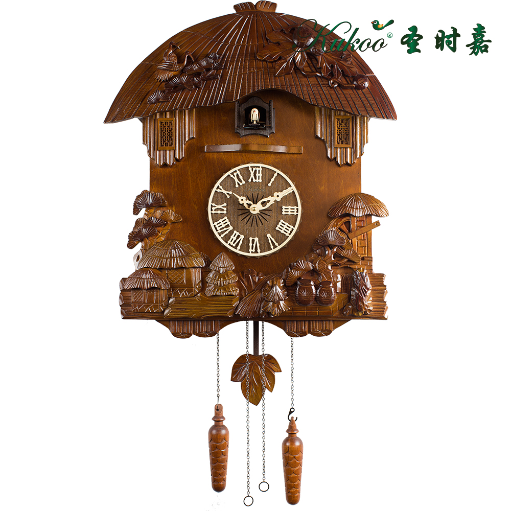 Cuckoo jam pinus besar patung gaya cina klasik kayu solid jam dinding anak  dekorasi kamar 00f6dadc1a