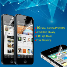 10 pcs/lot  Free shipping Clear Front Screen Protector Guard for Apple iPhone 5 5s