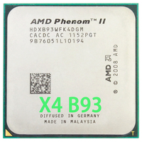 AMD Phenom II X4 B93 CPU Processor Quad Core (2.8Ghz/ 6M /95W / 2000GHz) Socket am3 am2+|CPUs| |  -