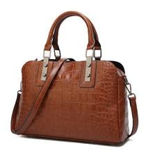 Sac à main de luxe motif Crocodile sacs à bandoulière pour femmes 2018 sacs à main en cuir Vintage femmes sac fourre-tout sac à main bolsa feminina
