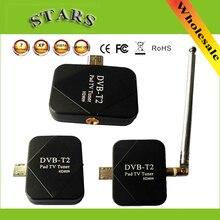 DVB-T2 Pad USB TV Tuner dvb-t2 DVB T2 DVB-T Dongle TV Récepteur HD Numérique TV Regarder En Direct TV Bâton Pour Android Pad Téléphone Tablet PC