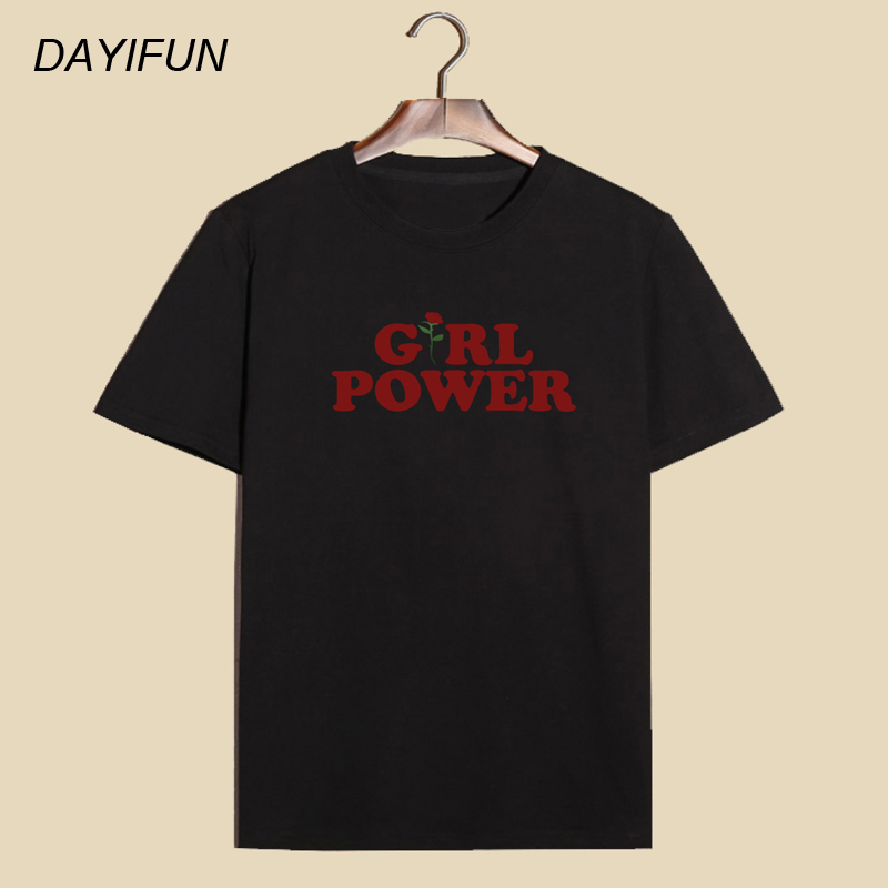 DAYIFUN 2018 New Flower Printed Women fashion T-shirts Casual Tee Tops Summer Short Sleeve Female T shirt Women Clothing T-005
