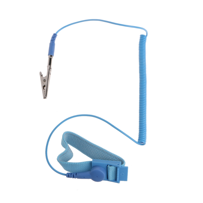 Ootdty Portable Esd Alligator Clip Grounding Anti-static Wrist Strap Discharge Band Nourishing The Kidneys Relieving Rheumatism