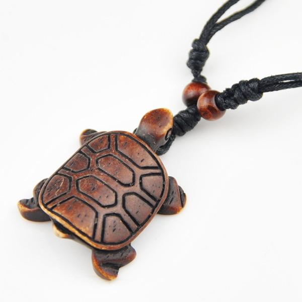 Cool Boy Men S Hand Carved Imitaton Bone Sea Turtle Pendant Lucky Necklace Gift Mn145 Gift Gift Qualitygift Maker Aliexpress