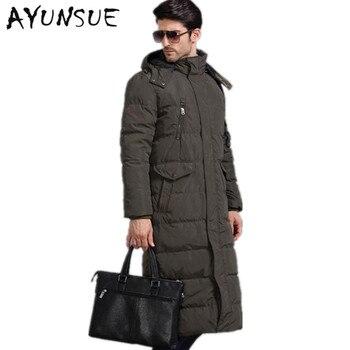 Winter Jacket Men Down Coat 90% Duck Down Jackets Long Coats Thick Warm Men's Outerwear Parka Male Overcoats Plus Size WLF086