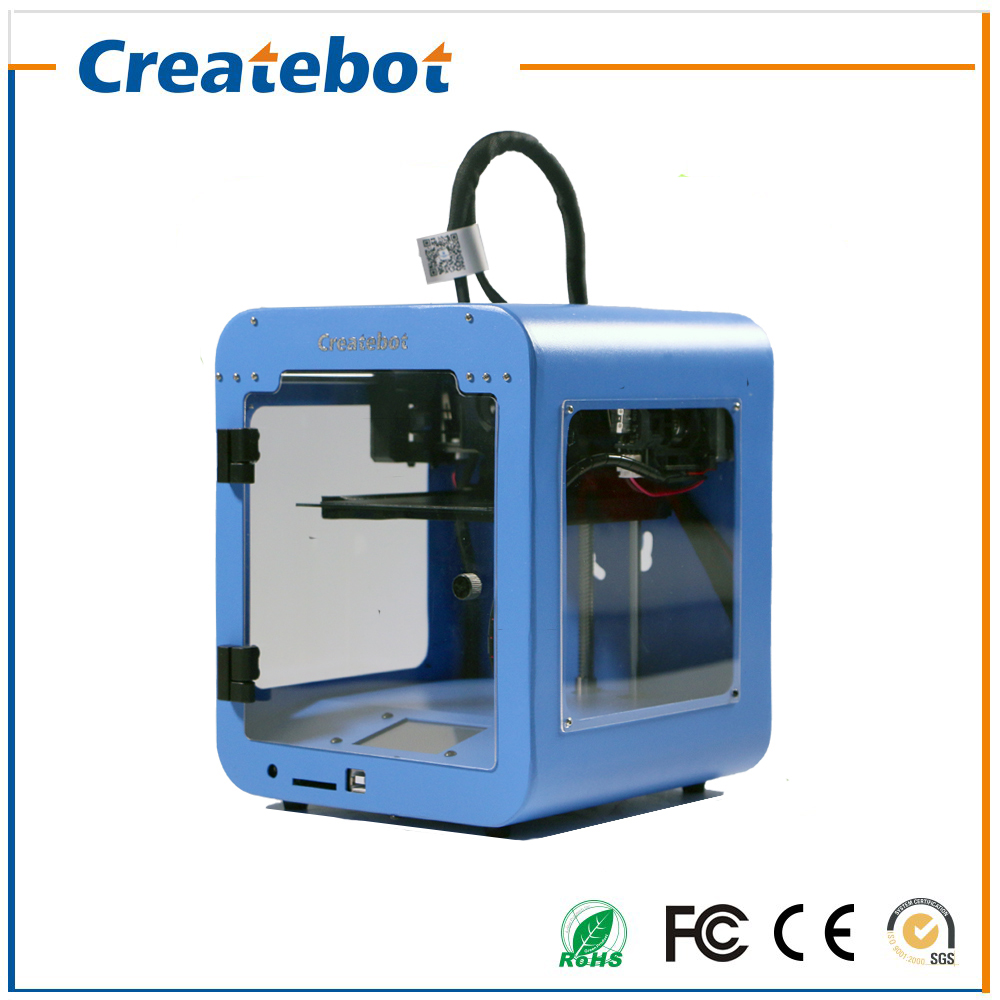 Cheap 3d printers Createbot Super mini 3D Printer Touch Screen Full Assembled 3D Printer Kit with 85*80*94mm Printing size flsun 3d printer big pulley kossel 3d printer with one roll filament sd card fast shipping