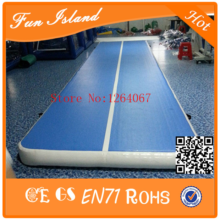 Free Shipping High Quality Material Inflatable 5m Air Track For Gymnastics,Blue Airtrack For Team Training Gym free shipping 6 2m inflatable gym air track inflatable air track gymnastics page 9