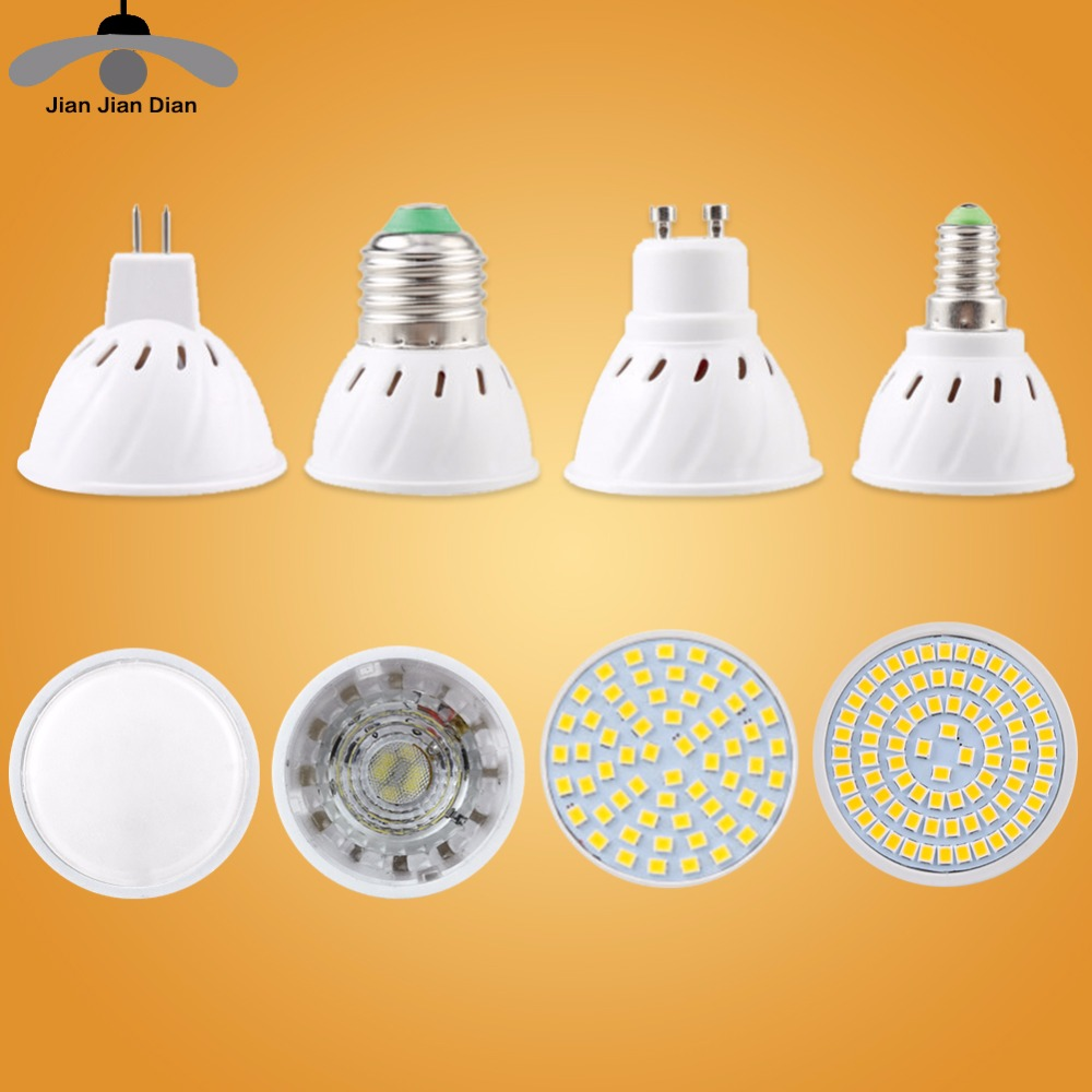 Led Bulb Spotlight MR16 GU10 Light E27 E14 Spot Lamp cfl 2835 SMD Lampada Diode Energy Saving GU5.3 220V 110V 3W For Home Decor luckyled brand bombillas led bulb spot light 3w 4w 5w 6w smd 2835 5730 gu10 led spotlight ac110v 220v for home lampada lamp