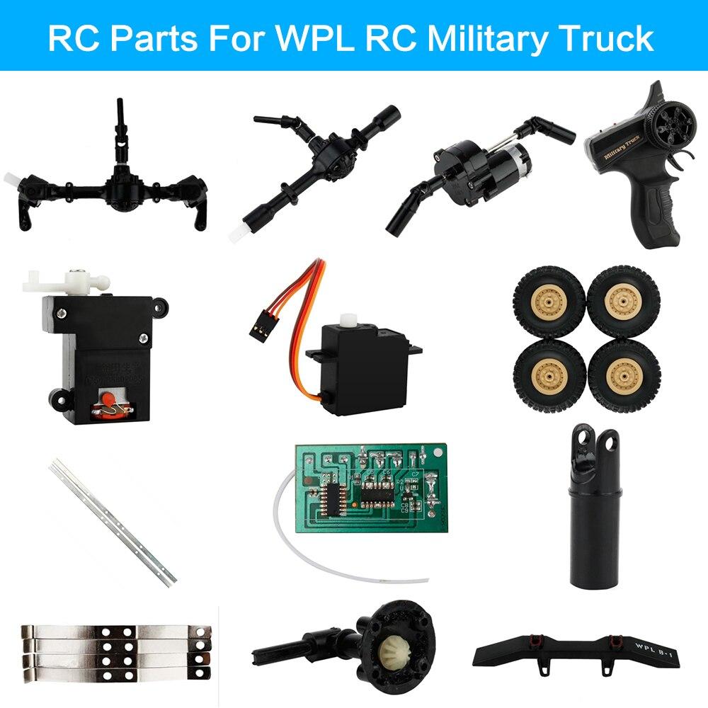 DIY RC Car Upgrade piezas de reparación transmisor receptor tarjeta transmisión eje transmisión para B-1/B-24 RC Camión Militar piezas