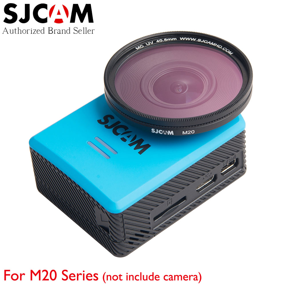 Original SJCAM M20 UV Filter 40.5mm Optical Glass MC UV Accessories with Protective Cover for M20 Series Sport Camera original protective leather cover uv lens cover white