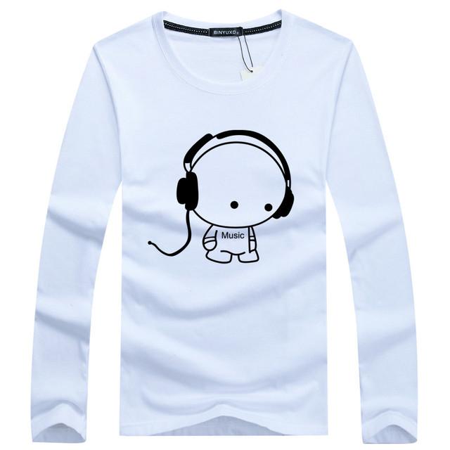 2016 Novos Homens de Manga Longa T Camisas de Algodão Puro Moda Marca Designer Casual Manga Comprida Imprimir T-shirt T-shirt Dos Homens de Alta Qualidade