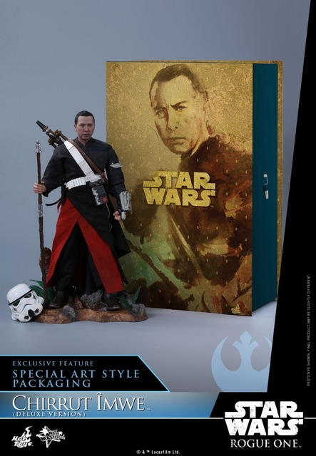 Hot Toys Rogue One: A Star Wars Story 1/6 scale Chirrut Imwe Donnie Yen Collectible Figures Set