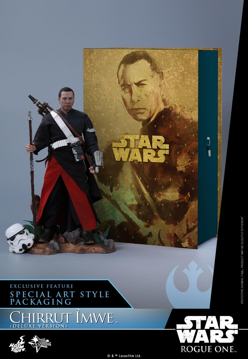 Hot Toys Rogue One: A Star Wars Story 1/6 scale Chirrut Imwe Donnie Yen Collectible Figures Set image