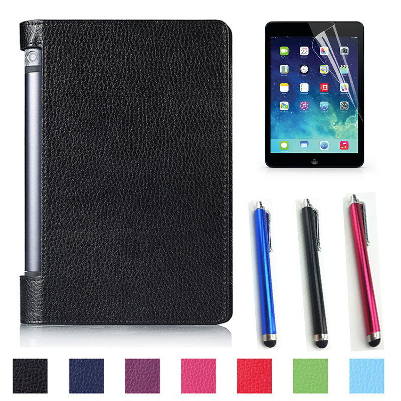 New! Luxury Fashion PU leather cover case stand cover case for lenovo Yoga tab 3 8 850F YT3-850F tablet +free film+free stylus 3 in 1 new ultra thin smart pu leather case cover for 2015 lenovo yoga tab 3 850f 8 0 tablet pc stylus screen film