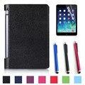 """Nova! Moda de luxo PU caso capa de couro suporte para lenovo Yoga 3 tab 8 """" 850F YT3-850F tablet + film + stylus"""