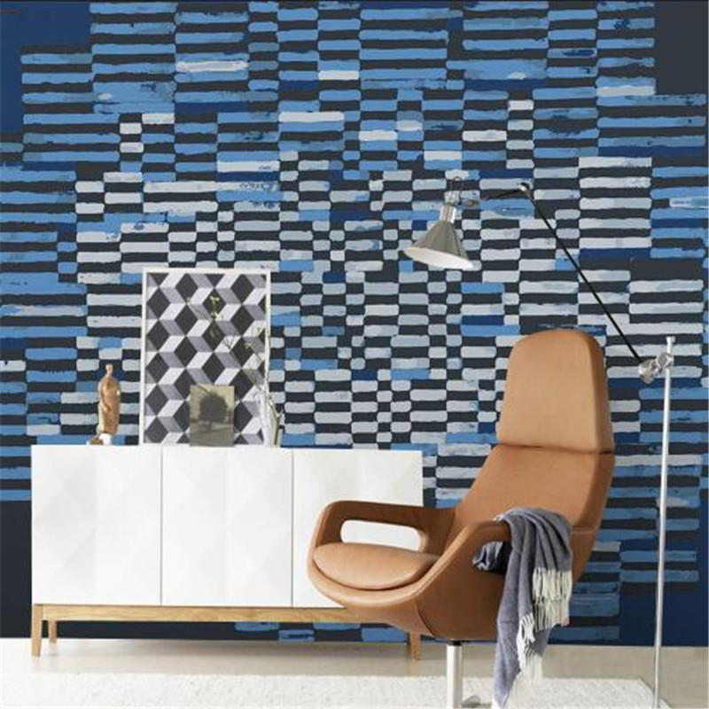 Mediterranean Style Wallpapers Rolls Creative Non-Woven Wall Paper Graffiti Navy Blue Wallpapers for Boy's Room graffiti мстители 14 blue
