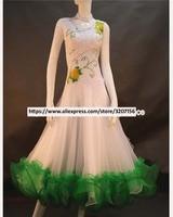 Flower Ballroom Competition Dance Dress Women's High Quality Modren Waltz Ballroom Dancing Dresses