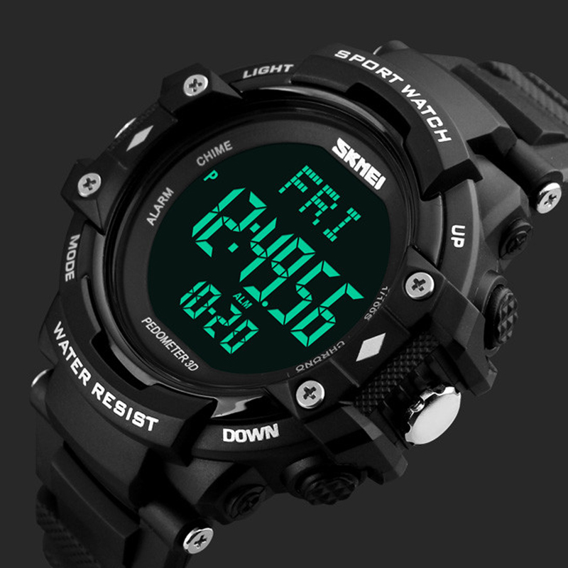Men Skmei Sports Watches 3d Pedometer Heart Rate Monitor Calories Counter 50m Waterproof Digital Led Mens Wristwatches Male Providing Amenities For The People; Making Life Easier For The Population Digital Watches Men's Watches
