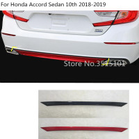 car Styling body cover protection Bumper trim rear back tail bottom 1pcs For Honda Accord Sedan 10th 2018 2019