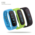Hot Sale E02 Smartband Health fitness tracker Sport Bracelet Waterproof Wristband for IOS Android Bluetooth