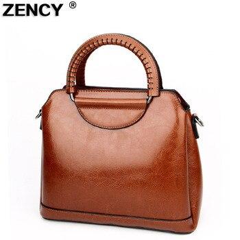 2020 Fashion Vantage Genuine Leather Women's Female Luxury Famous Brands Handbag Woman Girl Tote Shoulder Messenger Bag