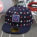 2015 новое поступление мода детей Snapback крышки Snapback черепа красоты покер паттен хип-хоп кепка бейсболка для детей