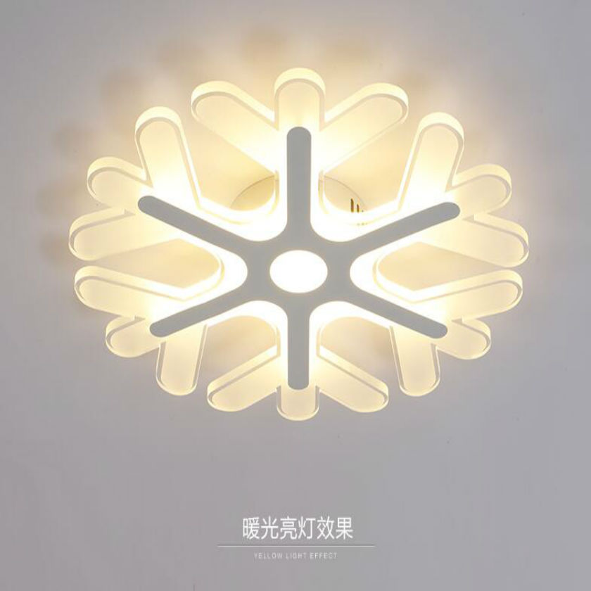 Modern Acrylic LED Ceiling Lights for Dining Living Room Bedroom snow design Dimming Ceiling Lamp Fixture luminaria teto creative cartoon ceiling light modern acrylic led ceiling lights lamp luminaria dimmable for kids room bedroom free shipping