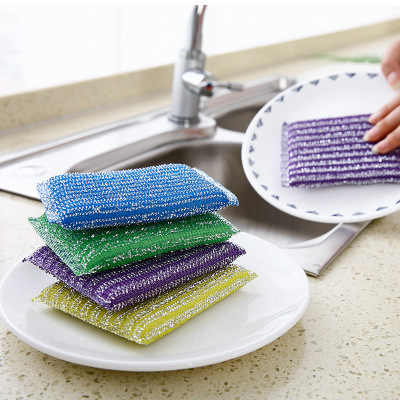 1 PCS sponge Bath Brush Tiles Brush Wash Pot Clean Brush bathroom accessories Kitchen cleaning brush Wash the dishes artifact
