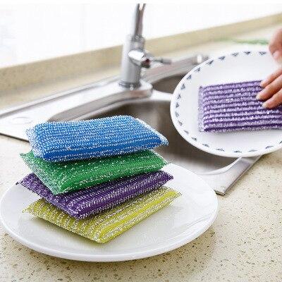 1 PCS sponge Bath Brush Tiles Wash Pot Clean bathroom accessories Kitchen cleaning brush the dishes artifact