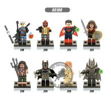 2016 10pcs/set Super Heroes Building Block Bricks Minifigures Deathstroke Red hood Aqua Man Pirates Lex Luther Toys Jugetes