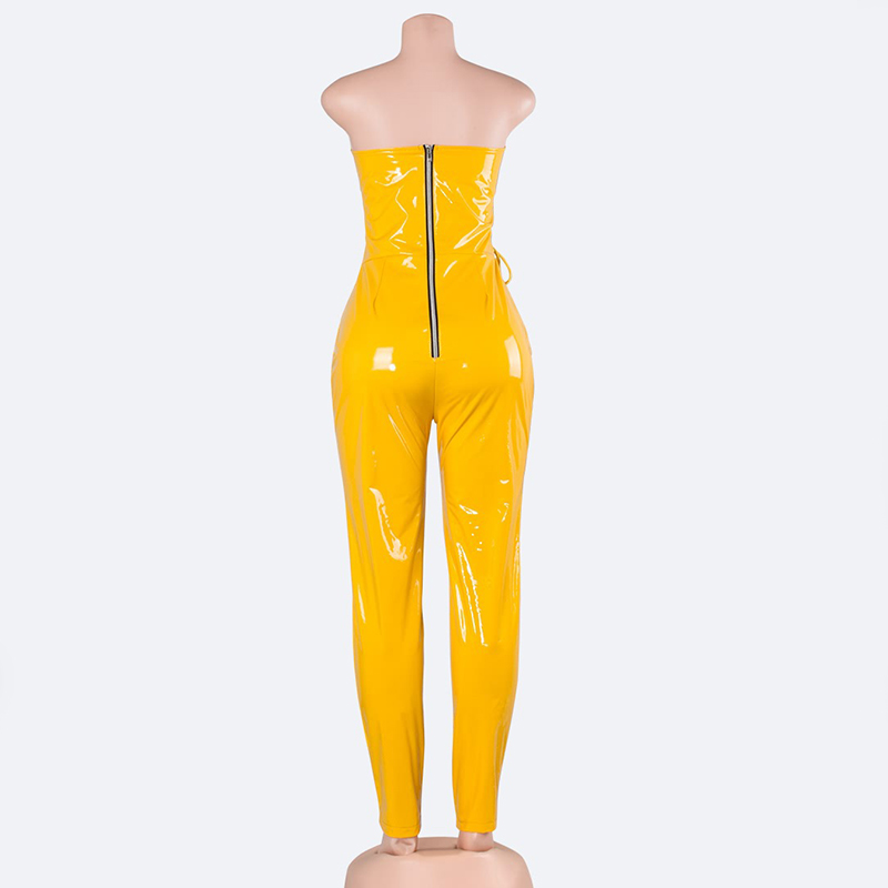 MUXU sexy green jumpsuit women elegant europe and the united states jumpsuits rompers ladies bandage jumpsuit backless bodysuit in Jumpsuits from Women 39 s Clothing