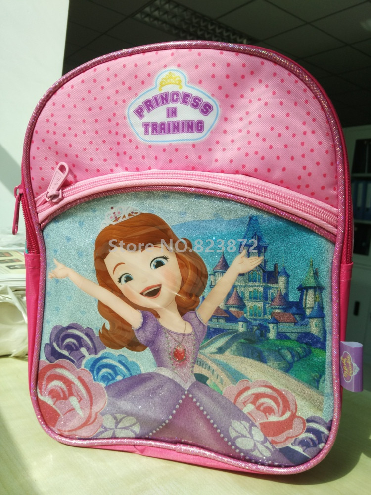 Cute Princess Sofia The First Pink Small Kindergarten Preschool Backpack  Baby Kids Schoolbag Children School Bags for Girls-in School Bags from  Luggage ... d34a81e7ec